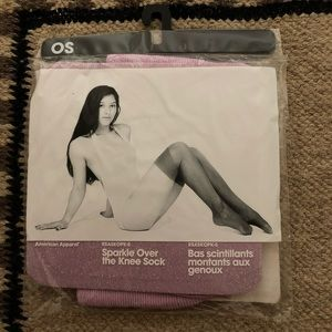 NWT American Apparel orchid sparkle over the knee